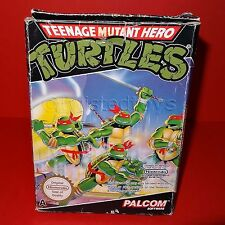 VINTAGE NINTENDO ENTERTAINMENT SYSTEM NES TEENAGE MUTANT HERO TURTLES GAME BOXED