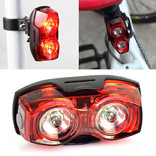 Cycling Night Super Bright Red 2 LED Rear Tail Light Bike Bicycle Safety Light