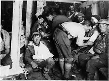 Photo.  WW1.  Treating Injured Soldiers - German Dugouts
