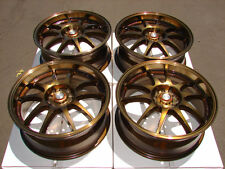 17 5x100 5x114.3 Rims Bronze Fits Prelude Eclipse Camry S2000 RSX 5 lug Wheels