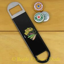 Chicago Blackhawks SPEED, BAR BLADE Bottle Opener Vinyl Coated Steel NHL NEW!!
