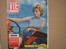 SCILLA GABEL GABELLINI COVER 1956 IN COPERTINA MAGAZINE VIE NUOVE DANILO DOLCI
