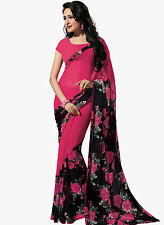 Pink Bollywood Ethnic Indian Designer Party Saree Sari with Blouse
