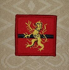 HQ Scotland- Head Quarter Yellow Lion- British Army New issue Embroidered Patch