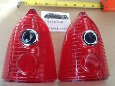 NEW PAIR OF BLUE DOT TAIL LIGHT LENS FOR THE 1955 CHEVROLET , 55 CHEVY !