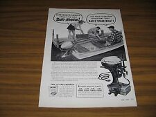 1954 Print Ad Scott-Atwater Bail-a-Matic Outboard Motors Minneapolis,MN