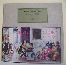 "33T CHOPIN LIPATTI Disque LP 12"" LES 14 VALSES Classique COLUMBIA 30.097"
