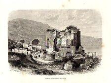 Stampa antica BAIA Tempio di Venere Napoli Bacoli 1876 Old print Engraving