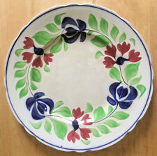"Antique Allertons Persian Ware England 9"" Plate Hand Painted Floral Red Blue"