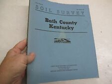 Soil Survey Bath County Kentucky 1963 Conservation Color Map Sheets Geology