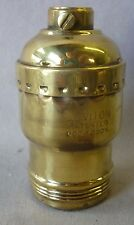 "Lamp Socket ""Leviton"" keyless BRASS SHELL Fat Boy polished (priced per each)"