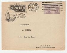STORIA POSTALE 1924 REGNO C. 50X2 SU BUSTA DIRETTA A PARIGI MILANO 22/5 Z/1887