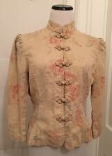 LAUREN Ralph Lauren Jacket Top Linen Floral Medium M