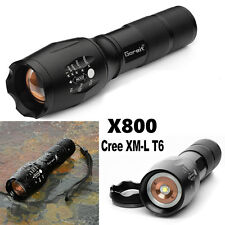 CREE XM-L T6 5000lm X800 Zoomable Flashlight LED Military Torch G700 ShadowHawk