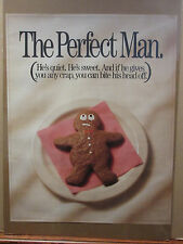 vintage 1989 The Perfect Man original funny cookie poster 9675
