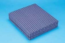 Hermell Wheelchair Cushion with Plaid Polycotton Zippered Cover