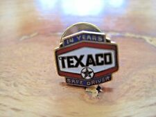 Texaco Safe Driver Pin Back--14 Years--1/10 10K Gold Filled