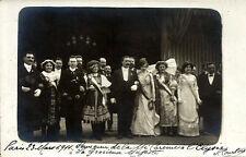 Cpa photo - PARIS,23 mars 1911, SOUVENIR de la MI-CAREME à L'ELYSEE, GRACIEUSE..