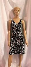 Kim Rogers Black And White Floral Spaghetti Straps Dress Size 8P