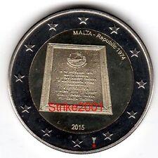 2 EURO COMMEMORATIVO MALTA 2015 Proclamazione Repubblica - ZECCA OLANDA