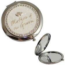 "Wedding Gift ""Mother of the Groom"" Compact Mirror"