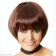 1920's Gatsby Flapper Brown Hair Bob Wig Costume Accessory Great Quality