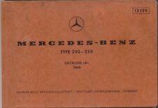 Mercedes Benz 230 250 Saloon 1968 Original multilingüe lista De Repuestos 12139