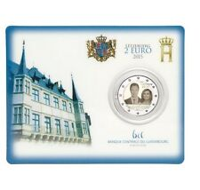 "Luxemburg 2 euro ""15 Jaar Henri"" 2015 BU Coincard Commemorative - In Stock!"