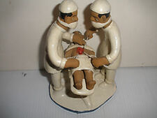 Unique Surgery  surgeon  Doctors  Patient  operating room clay Sculpture signed