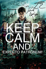 "HARRY POTTER KEEP CALM SIGNED PP TOM FELTON JK ROWLING 12x8"" POSTER PHOTO GIFT"