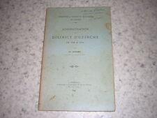 1899.administration district Uzerche / Godard.envoi autographe.révolution