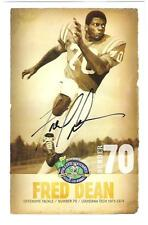 Fred Dean AUTOGRAPH COLLEGE FOOTBALL  HOF PHOTO SIGNED