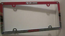 San Francisco Plastic License Plate Bracket Frame