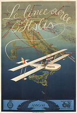 AIRLINES OF ITALY 1927 Vintage Italian Travel Reproduction CANVAS PRINT 24x33 in