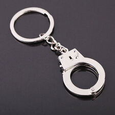 "Metal HANDCUFF Keyring 6"" Total Length - Handcuff 1 5/8"" Ring 1 3/8"" Key Ring"