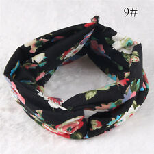 1Pcs Wide Stretch Hair Band Women Fashion Vintage Headband Floral Accessories