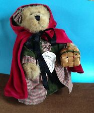 Boyds Bears Bailey Little Red Riding Hood Basket Red Velvet Retired Cape Plush