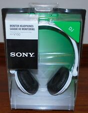 NEW SONY MDR-V150 WHITE Monitoring DJ Stereo Headphones MDRV150 Original