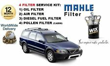 FOR VOLVO XC70 2.4D D5 185bhp 2005-2007 SERVICE OIL AIR FUEL POLLEN FILTER KIT