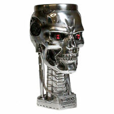 Terminator 2 Head Goblet, T-800 silver skull ornament by Nemesis Now B1456D5
