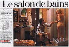 PUBLICITE ADVERTISING 114 1978 ALLIBERT le salon de bain sous la douche nue 2 pg