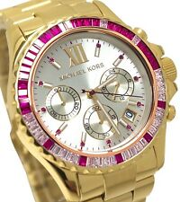 NEW MICHAEL KORS GOLD EVEREST GLITZ CHRONOGRAPH LADIES WATCH MK5871