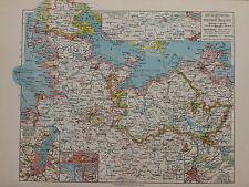 Landkarte Mecklenburg und Schleswig - Holstein, von 1935 Bibli. Institut