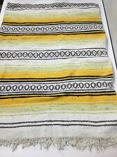 "Vintage Tribal Native Southwest Style Woven Throw Blanket Throw 54"" x 72"" Yellow"