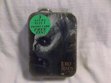 Lord of the Rings Fotr Orc Collectible Card Tin W/Keychain.  New and Sealed!!