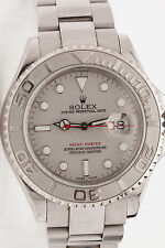 RARE Full Size Mens Platinum SS ROLEX Yachtmaster BOX & PAPERS