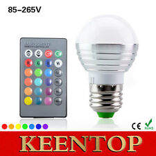 E27 dimmer LED RGB Bulb Candle lamp 5W Spot light IR Remote Control 16 colors