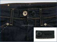 Black Denim & Button Pant Shorts Jeans Waist Line Extension Expander Extend Size