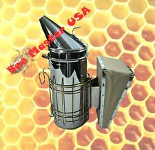 Pro's Choice Best Bee Hive Smoker Stainless Steel with Heat Shield Large Size.