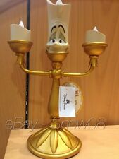 LUMIERE Light-Up Figure Lamp LED BEAUTY AND THE BEAST  DIsney Park New In Box